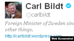 Карл Більт - сталы карыстальнік твітэру