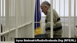 Олексій Пукач, обвинувачений у вбивстві Георгія Гонгадзе під час судового засідання, архівне фото