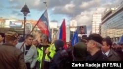 Ілюстраційне фото. Російські прапори на мітингу на підтримку проросійського політика Воїслава Шешеля. Белград, Сербія, березень 2016 року