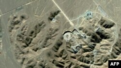 A satellite image shows the suspected Iranian nuclear facility at Qom.