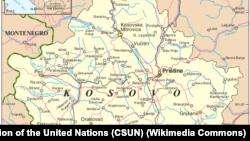 Косово мапа