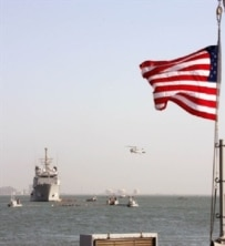 Ships and aircraft of the U.S. Fifth fleet (AFP)