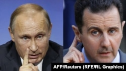 Russian President Vladimir Putin (left) and his Syrian counterpart, Bashar al-Assad: