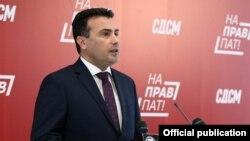 Архивска фотографија- претседателот на СДСМ Зоран Заев на прес конференција во партиското седиште