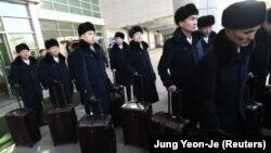 گروه رژه کره شمالی در سئول