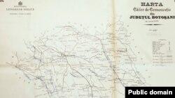 Județul Botoșani: căile de comunicație la 1897, Sursa: Domeniu public