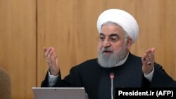 Iranian President Hassan Rohani chairs a cabinet meeting in Tehran on January 15, 2020