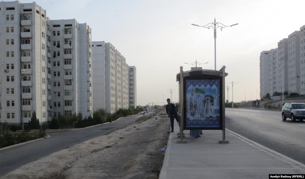 Автобусная остановка, Ашхабад