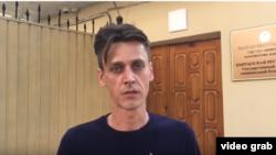 April TV's director, Dmitriy Lozhnikov, was interrogated for five hours by Kyrgyz investigators on August 13. (file photo)