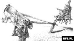 """После галер. Михаил Златковский. """"В.В.Путин на стерне"""". Подвижнический крестьянский труд всегда вызывал у художника уважение. 27.01.2009."""
