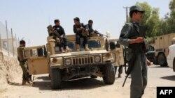 Афганские военные в районе Герешк провинции Гильменд.
