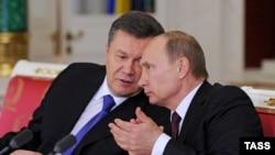 Viktor Ianukovici și Vladimir Putin, în 17 decembrie 2013