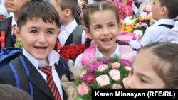 Դպրոցականները սեպտեմբերի 1-ին, լուսանկարը՝ Կարեն Մինասյանի
