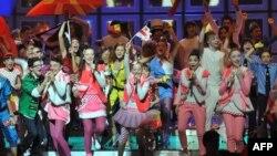Балалар арасындағы Eurovision конкурсынан көрініс.