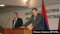 Mladen Bosić i Milorad Dodik nakon sastanka