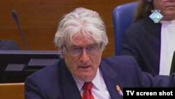 Radovan Karadžić tokom suđenja za genocid u Hagu, 11. oktobar 2010.