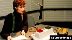 Balkans Service Broadcaster Sabina Cabaravdic prepares for the service's first broadcast to the former Yugoslavia on Jan. 31, 1994 from RFE/RL's studios in Munich, Germany.
