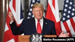 U.S. President Donald Trump in London on June 4
