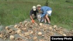 На місці розкопок. Фото: Олександр Гізай, пошукова організація «Каскад»