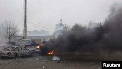 Последствия артобстрела Мариуполя