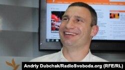 World heavyweight boxing champion and Ukrainian opposition politican Vitali Klitschko