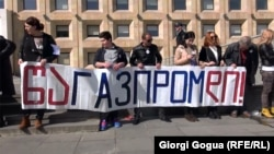 "Тбилисида ""Газпром""га қарши намойиш, 6 март, 2016 йил."