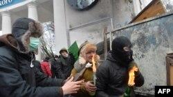 На Грушевського в Києві триває протистояння, 20 січня 2014 року