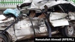 آرشیف، یک موتر تخریب شده در یک رویداد ترافیکی