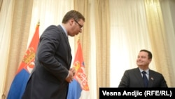 Čak i ako je Dačić (D) dao izjavu bez direktnog dogovora sa Vučićem (L), teško je poverovati da srpski premijer sada zbog toga oseća nelagodu