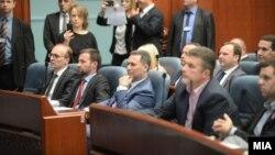 Nikolla Gruevski në Parlamentin e Maqedonisë
