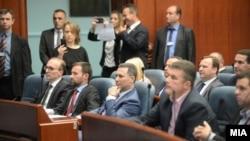 Nikolla Gruevski, ish-lider i VMRO-së në seancë plenare. Fotografi nga arkivi