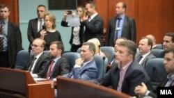 Lideri i VMRO-së Nikolla Gruevski në Kuvendin e Maqedonisë, foto nga arkivi