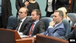 Архивска фотографија- Антонијо Милошоски, Илија Димовски и Никола Груевски на седница на Собранието