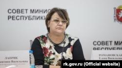 Вице-премьер российского правительства Крыма Елена Романовская
