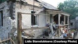 Зруйнований будинок на Донбасі, архівне фото