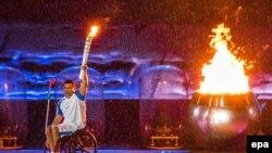 На церемонии открытия Паралимпийских игр в Рио-де-Жанейро. 7 сентября 2016 года.