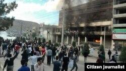 آتش زدن هتل تارا توسط معترضان