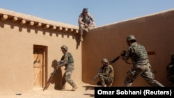 FILE: Afghan National Army (ANA) soldiers during a training in Helmand province.