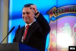 Никола Ґруєвський на прес-конференції після виборів