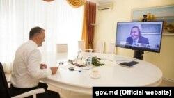 Premierul Ion Chicu și negociatorul principal al FMI pentru Moldova, Ruben Atoyan