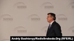 За даними ЗМІ, інцидент трапився в будівлі колишнього міністра Леоніда Кожари