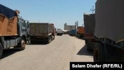 شاحنات محملة بالحبوب في ميسان