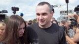 Ukraine -- filmmaker Oleh Sentsov arrives in Kyiv, 07sep2019