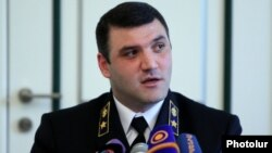 Armenia - Prosecutor-General Gevorg Kostanian at a news conference in Yerevan, 25Jun2014.