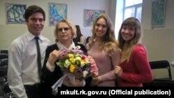 Ukraine, Crimea - a creative meeting with the People's Artist of the RSFSR Talyzina Valentina, Valentina Talyzina