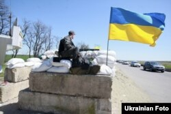 Блокпост біля Донецька, 25 квітня 2014 року
