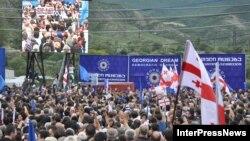 """Митинг сторонников оппозиционной коалиции """"Грузинская мечта"""", Мцхета"""
