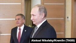 Владимир Путин и Рустам Минниханов (архивное фото)