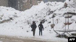 Alepo pod snijegom 21. decembra 2016.