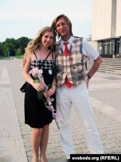 Дар'я Кабакова з бацькам Алесем Пушкіным